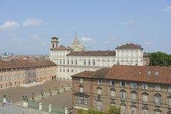 Torino, palazzo reale fotografia stock