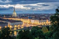 Torino panorama at twilight Royalty Free Stock Image