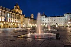 Torino piazza Castello Obraz Royalty Free