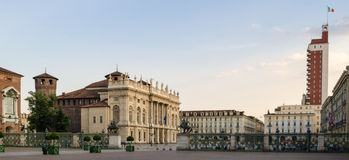 Torino, Piazza Castello Stock Images
