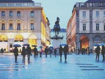 Torino piazza San Carlo Obrazy Stock