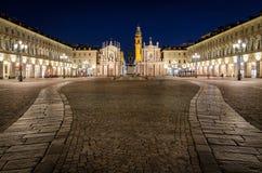 Torino piazza San Carlo Obraz Stock