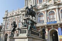 Torino. Piedmont, Italy - Carignano palace in Carlo Alberto square Stock Photo
