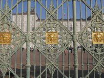 Torino. Piedmont, Italy - gate of Real Palace Gate Stock Images