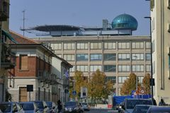 Torino. Piedmont, Italy - Helicopter landing strip on Lingotto. It was built by Gianni Agnelli Stock Photos