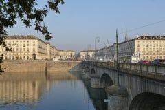 Torino. Piedmont, Italy - Vittorio Emanuele bridge Royalty Free Stock Images