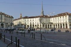 Torino. Piedmont, Italy - Vittorio Emanuele square Royalty Free Stock Images