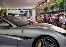 Torino, Piemonte, Italia Giugno 2018 Al parco di Valentino, il salone dell'automobile immagine stock libera da diritti