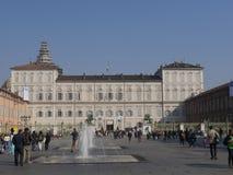 Torino. Piedmont, Italy - Real Palace square Royalty Free Stock Photos
