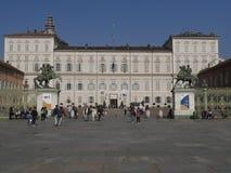 Torino. Piedmont, Italy - Real Palace square Stock Photo