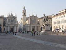 Torino. Piedmont, Italy - San Carlo square Stock Photo