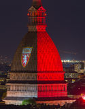 Torino (Turin, Italy), garnet colored Mole Antonelliana Stock Photo