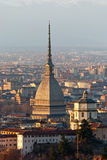 Torino (Turin), panorama with Cappuccini and Mole Stock Photography