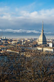 Torino (Turin) panoramic view, Italy. Torino (Turin) panoramic view with Mole Antonelliana, Italy Royalty Free Stock Image