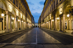 Torino Via Roma Stock Photography