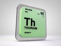 Torio - Th - tabla periódica del elemento químico Fotos de archivo libres de regalías