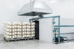 Tork i textilfabrik royaltyfria bilder
