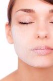 torka ansikts- skincare Royaltyfri Fotografi