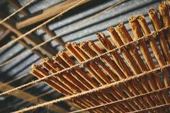 Torka av de kanelbruna pinnarna fotografering för bildbyråer