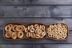 Torka för baglar av olika format royaltyfri bild