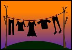 torka för kläder Fotografering för Bildbyråer