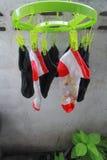 Torka för sockor Royaltyfria Foton