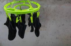 Torka för sockor Fotografering för Bildbyråer
