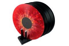 Torka för vinylrekord Arkivbilder