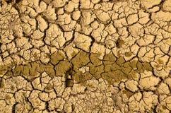 torka landet sprucken jordning för bakgrund Royaltyfri Foto