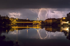 Torka stormen Arkivfoto