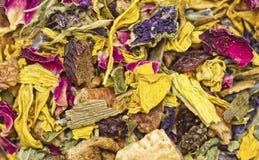 Torkad ört- och blommatextur Royaltyfria Foton