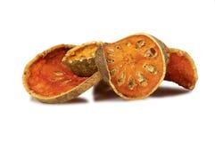 torkad bal - frukt isolerad utslagsplatswhite Fotografering för Bildbyråer
