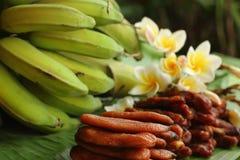 Torkad bananfrukt - bananer Fotografering för Bildbyråer