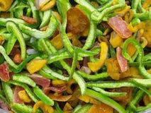 torkad blandning för tropisk frukt arkivfoto