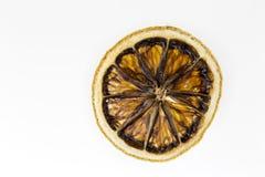 Torkad citron som isoleras på vit bakgrund royaltyfri fotografi