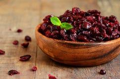 torkad cranberry royaltyfri bild