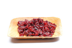 torkad cranberry - frukt royaltyfria bilder