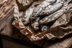 torkad fisk Fotografering för Bildbyråer