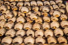 Torkad fisk i den Thailand marknaden Royaltyfria Foton