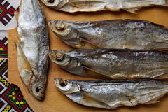 torkad fisk Sabrefish royaltyfria foton