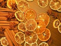 Torkad frukter och krydda arkivbild