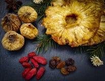 Torkad fruktnärbild arkivfoton
