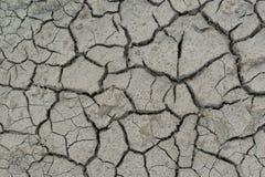 Torkad jord med sprickor Royaltyfria Bilder