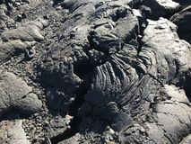 Torkad lava i Volcanoesnationalpark royaltyfria foton