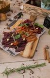 torkad meat arkivfoton