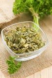 Torkad parsley royaltyfria foton