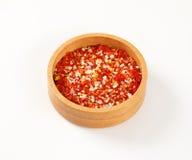 Torkad peppar och saltar Arkivfoton