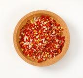 Torkad peppar och saltar Arkivfoto