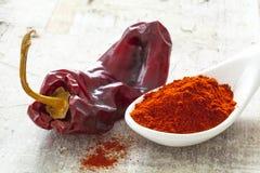 Torkad röd peppar Arkivfoton