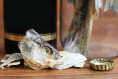 Torkad rimmad fisk, ett läckert mellanmål till öl Royaltyfria Foton